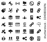 flat vector icon set  ... | Shutterstock .eps vector #1040803696