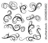 decorative monograms and... | Shutterstock .eps vector #1040805682