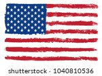 grunge usa flag.vector flag of... | Shutterstock .eps vector #1040810536