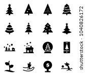 solid vector icon set  ... | Shutterstock .eps vector #1040826172
