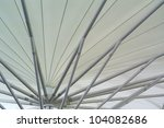 white roofs of tent - stock photo