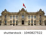 palacio de gobierno  the... | Shutterstock . vector #1040827522