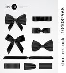 vector bow collection | Shutterstock .eps vector #104082968