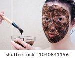 caucasian model between age 20... | Shutterstock . vector #1040841196