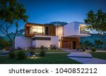 3d rendering of modern cozy... | Shutterstock . vector #1040852212