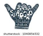 surfers hang loose hand...   Shutterstock .eps vector #1040856532
