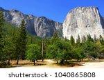 beautiful sunny day in yosemite ...   Shutterstock . vector #1040865808