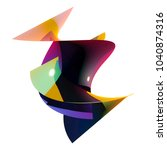 abstract colorful form. 3d... | Shutterstock . vector #1040874316