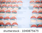 trade show background with an... | Shutterstock . vector #1040875675