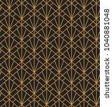 Geometric Vector Seamless pattern. Stylish abstract art deco texture.
