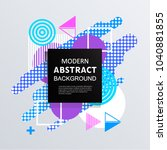 modern abstract circle... | Shutterstock .eps vector #1040881855