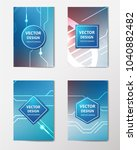 medical banner with... | Shutterstock .eps vector #1040882482