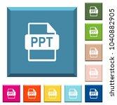 ppt file format white icons on... | Shutterstock .eps vector #1040882905