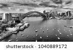 black white image of sydney... | Shutterstock . vector #1040889172