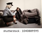search warrant made by police... | Shutterstock . vector #1040889595