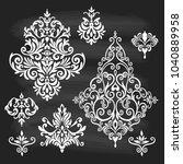 set of oriental vector damask... | Shutterstock .eps vector #1040889958