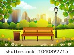 vector illustration of bench... | Shutterstock .eps vector #1040892715