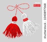 baba marta day. martenitsa ... | Shutterstock .eps vector #1040897068
