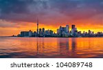 The Toronto Skyline As The Sun...