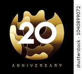 20 years golden anniversary... | Shutterstock .eps vector #1040899072