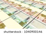 uruguay peso bills stacks... | Shutterstock . vector #1040900146