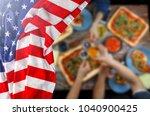 american flag  us flag ... | Shutterstock . vector #1040900425