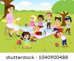 vector illustration of children ... | Shutterstock .eps vector #1040900488