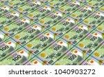 mauritanian ouguiya bills... | Shutterstock . vector #1040903272