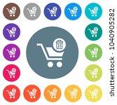 delete from cart flat white... | Shutterstock .eps vector #1040905282