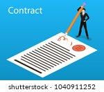 isometric 3d concept vector... | Shutterstock .eps vector #1040911252