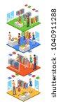 isometric 3d vector... | Shutterstock .eps vector #1040911288