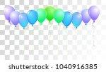 helium balloons realistic...   Shutterstock .eps vector #1040916385
