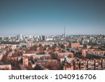 true tilt shift urban landscape ... | Shutterstock . vector #1040916706