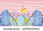 punchy pastel with lemon and... | Shutterstock .eps vector #1040919442