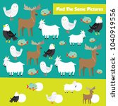 match games for kid with animal ... | Shutterstock .eps vector #1040919556
