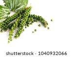 fresh green peper on white... | Shutterstock . vector #1040932066