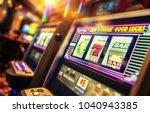 casino interior and row of...   Shutterstock . vector #1040943385