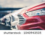 Certified Pre Owned Cars For Sale on Dealership Lot. Automotive Industry. - stock photo