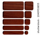 rich brown wood grain patterned ... | Shutterstock . vector #1040953855