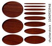rich brown wood grain patterned ... | Shutterstock . vector #1040953948