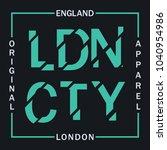 london  england typography... | Shutterstock .eps vector #1040954986