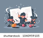 school of witchcraft and... | Shutterstock .eps vector #1040959105