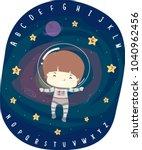 illustration of a kid boy... | Shutterstock .eps vector #1040962456