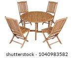 teak garden furniture chairs... | Shutterstock . vector #1040983582