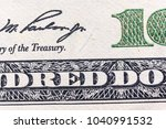a fragment of a banknote one... | Shutterstock . vector #1040991532