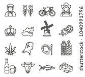 netherlands symbols and dutch... | Shutterstock .eps vector #1040991796