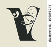 Calligraphic Letter V