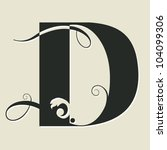 Calligraphic Letter D