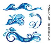 collection of water   Shutterstock .eps vector #104099822