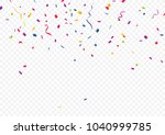 colorful confetti  isolated on...   Shutterstock .eps vector #1040999785